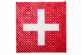 swiss flag in plastics