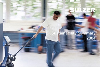 Cover of sustainability summarty 2004
