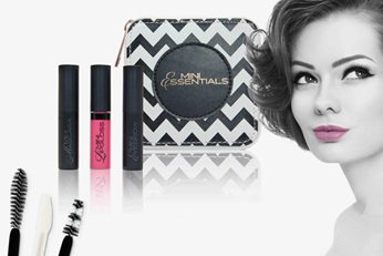 Applicators for beauty applications by Geka and face of woman.