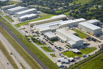 Aerial view of the Sulzer Houston Service Center in Houston, United States.
