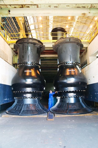 The project has involved some of the largest pumps ever built by Sulzer