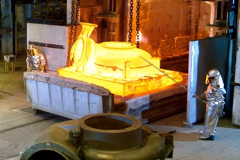 Manufacture of a pump castings
