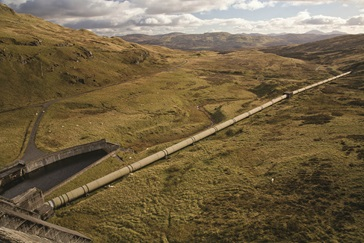 Hydro-Electric Scheme in the mountainous region in highland Perthshire, Scotland