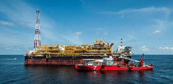 FPSO CLOV on the sea