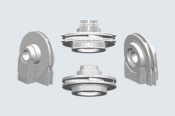 volume supports for slm design iteraton 2