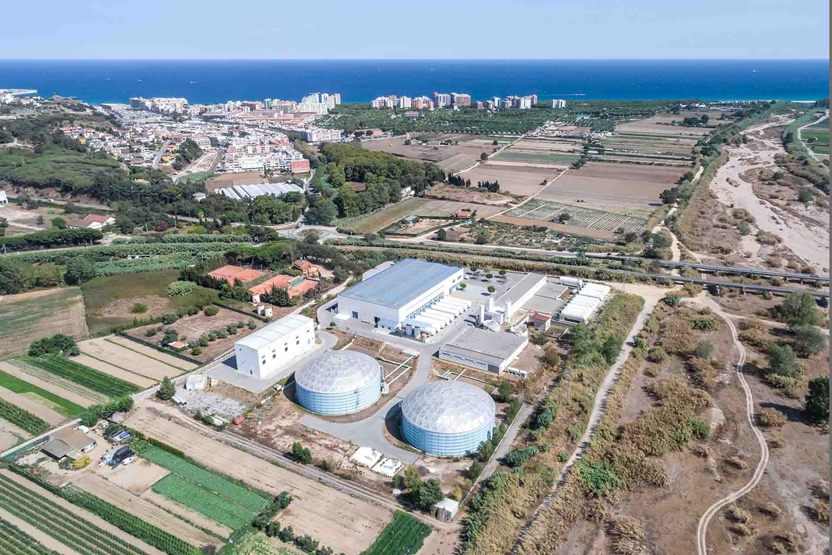 Desalination plant in Spain at the seaside