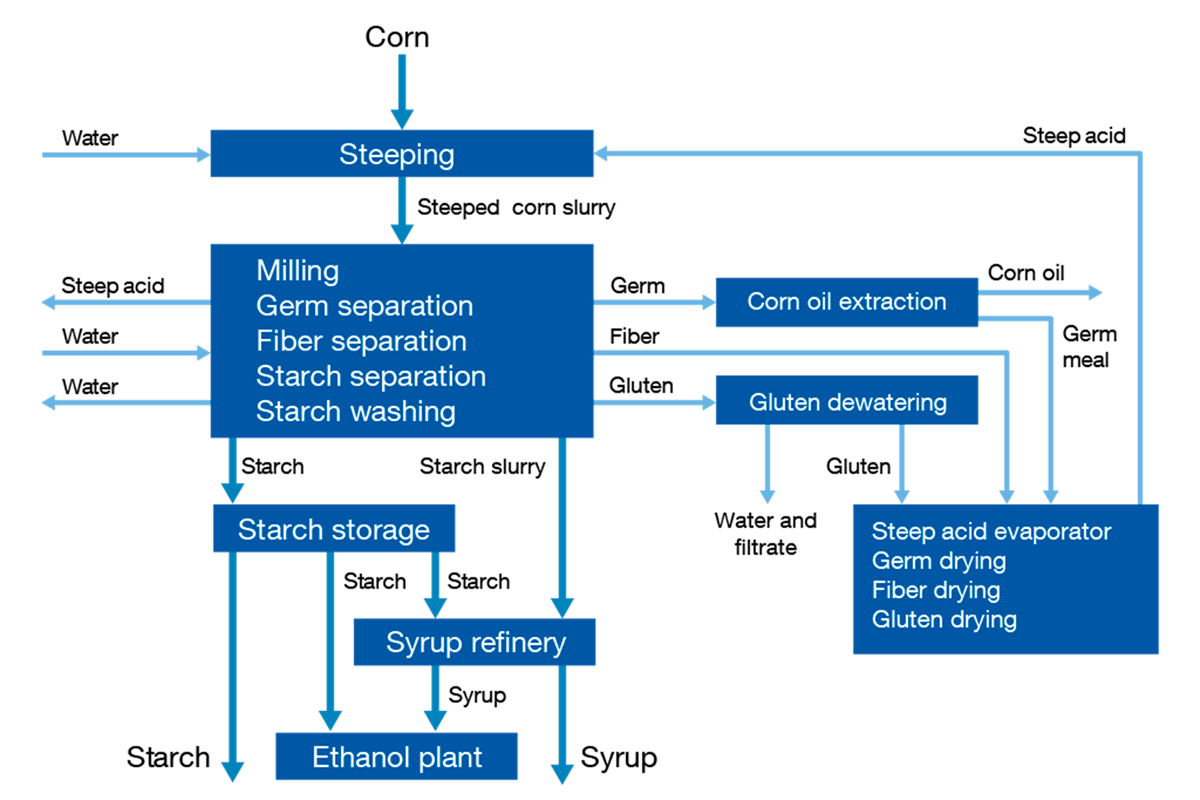 Starch manufacture process