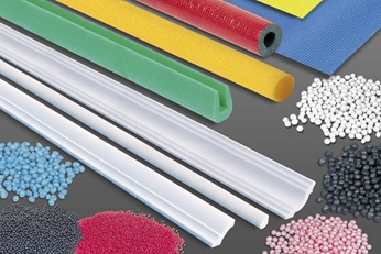Various foam in pellets and tubes