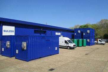HST and BCX Containers at Service Centre