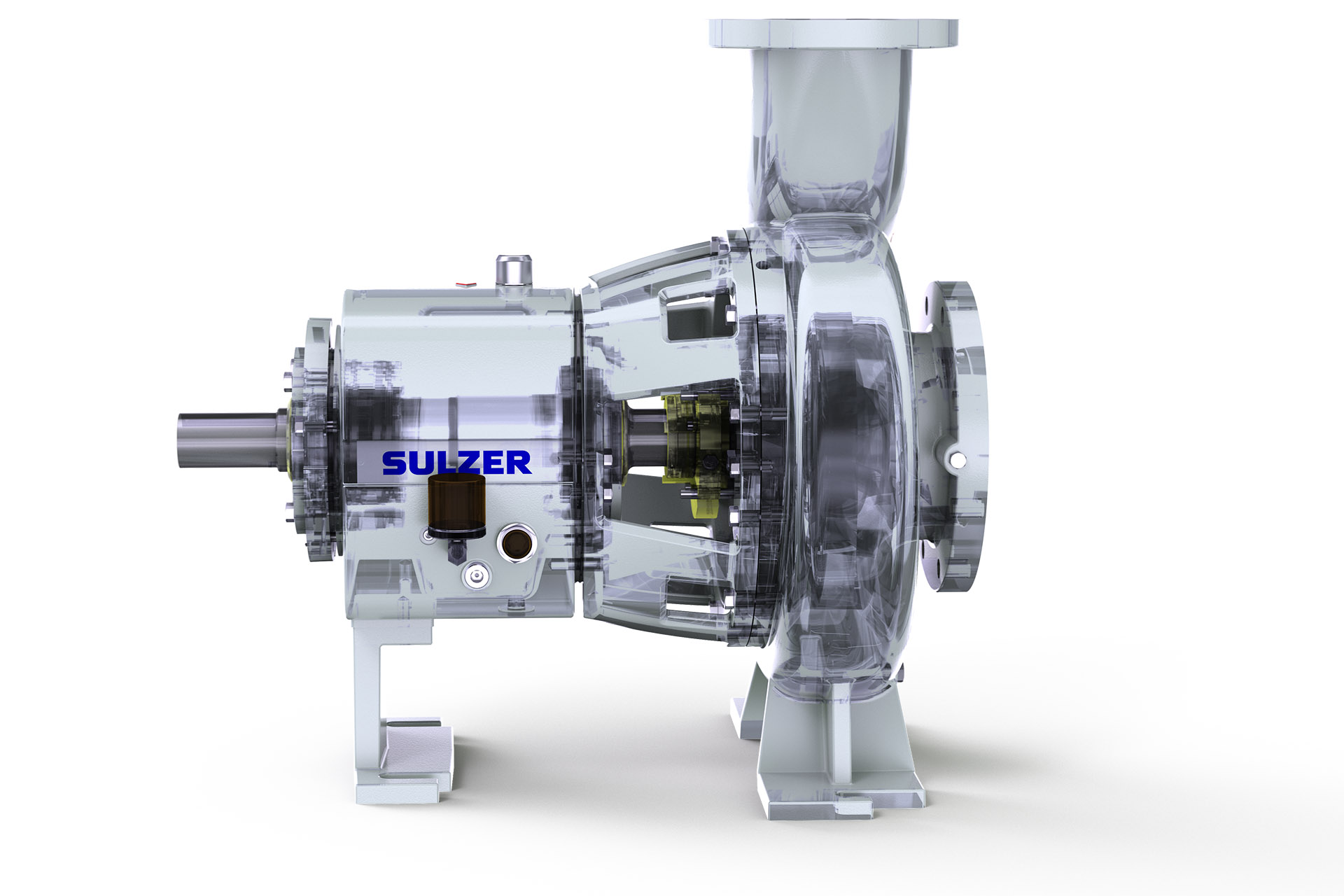 CPE ANSI process pump range cut-through
