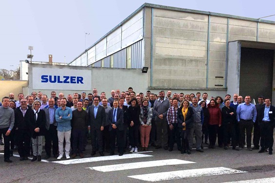 Group photo of the Saint Quentin factory employees in France