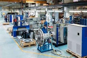 HST™ turbocompressors being manufactured in the Sulzer factory in Kotka, Finland