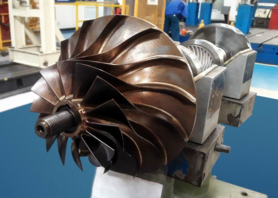 The reverse engineered impeller.