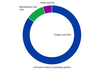 Life cycle costs of a pumping system