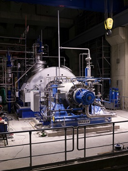 Latest design of boiler feed pump installed in the power station in Neurath, Germany