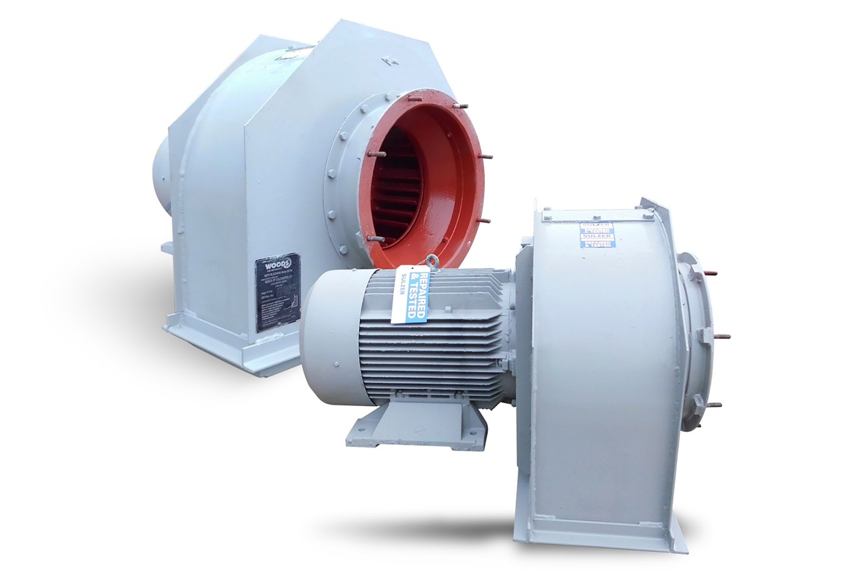 Traction motor blower unit