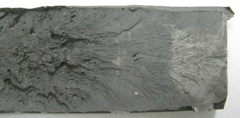 A Sample Fracture Surface with Chevron Marks (Lynch and Moutsos (2006)).