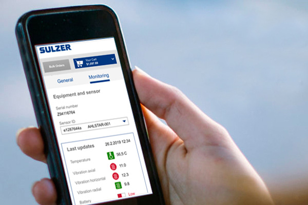 Sulzer Sense on mobile screen