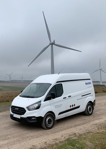 sulzer field service wind turbine