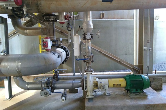 AHLSTAR APP32-80 pumping unit for mash / yeast