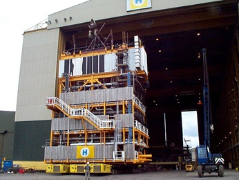 Dunbar module on fabrication yard