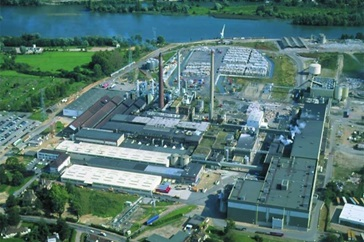 Aerial view of Europac cardboard mill
