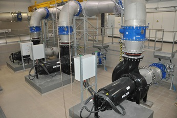 Pumps installed in wastewaster treatment plant in Warsaw