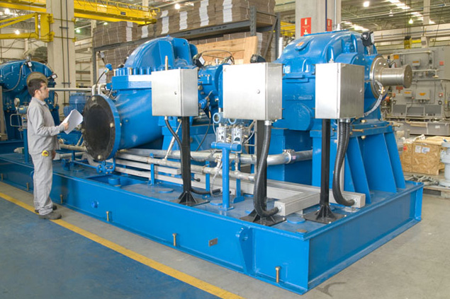 HPDM pump in final inspection before shipment