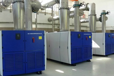 HST 40 turbocompressors at Kujawy plant in Krakow help increase wastewater treatment capacity and efficiency