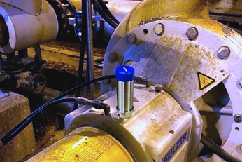 The system monitors the condition of the pumps in the pulp production line.