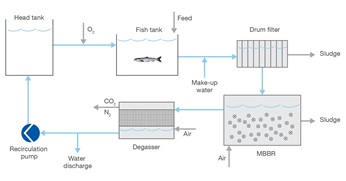 Water treatment system process chart