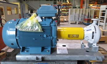 SNS pump ready to be dispatched to calcium mine for dewatering process