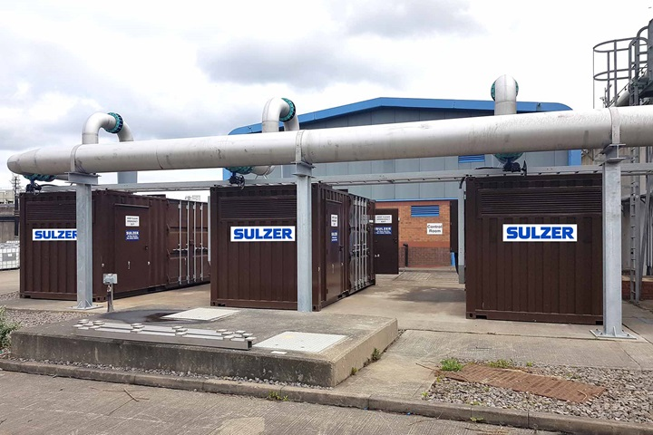Three HST 30 blowers supplied in containers