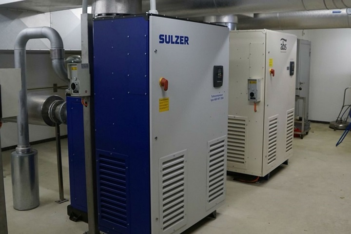 Efficiency improvement, fast replacement of HS 2500 turcompressor in 36 hours at Erzo waste disposal company, Zofingen, Switzerland