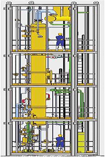 3-D layout of a wastewater stripper in a Sulzer Chemtech modular construction