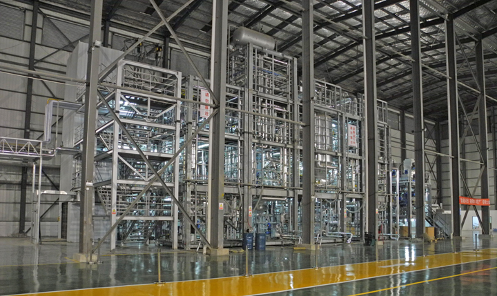 PLA plant at Synbra with 5 000 t/a capacity, designed and delivered by Sulzer