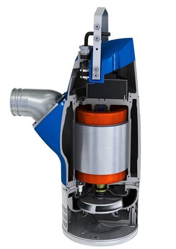 Submersible dewatering pump XJ 25 cut view