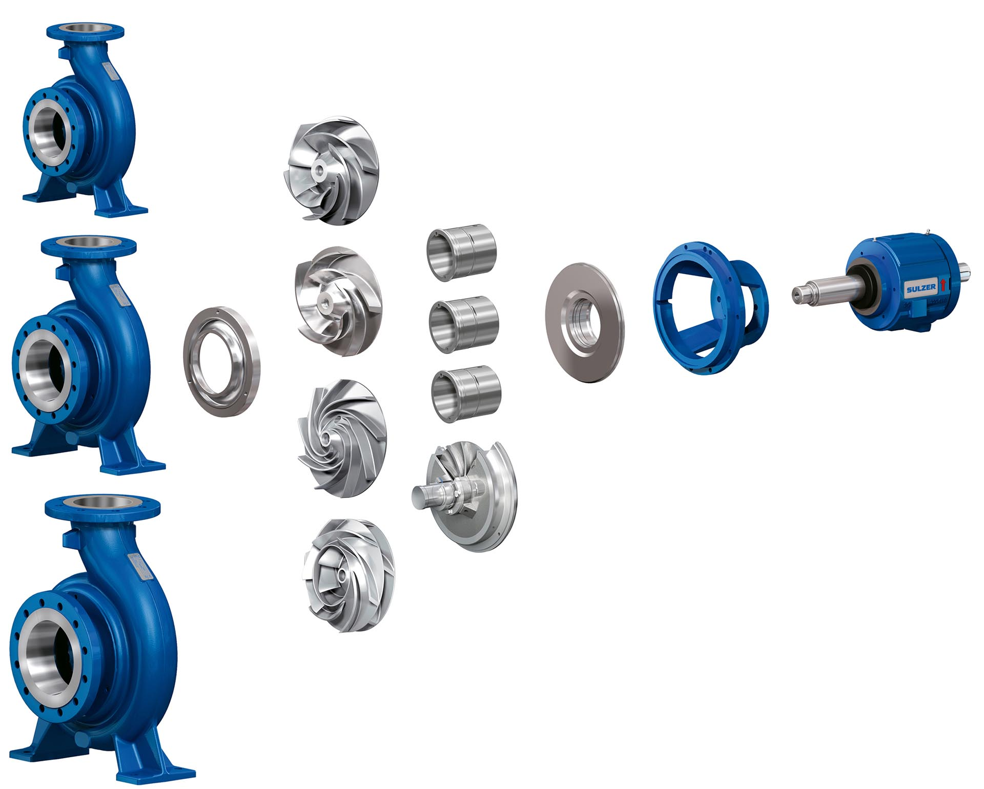The modular design of BE end suction single stage pump minimizes spare part inventory costs