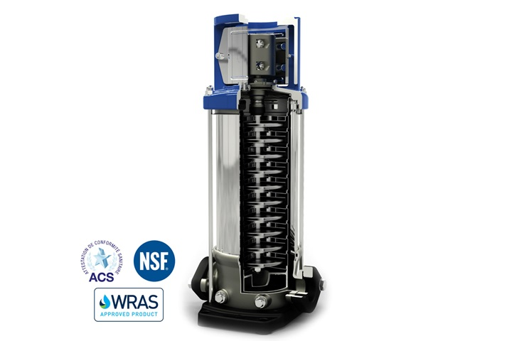 The VMS vertical multistage pumps are used for multiple applications in the water market