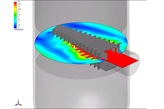 Graphic of Computational Fluid Dynamics (CFD) of Shell Schoepentoeter™