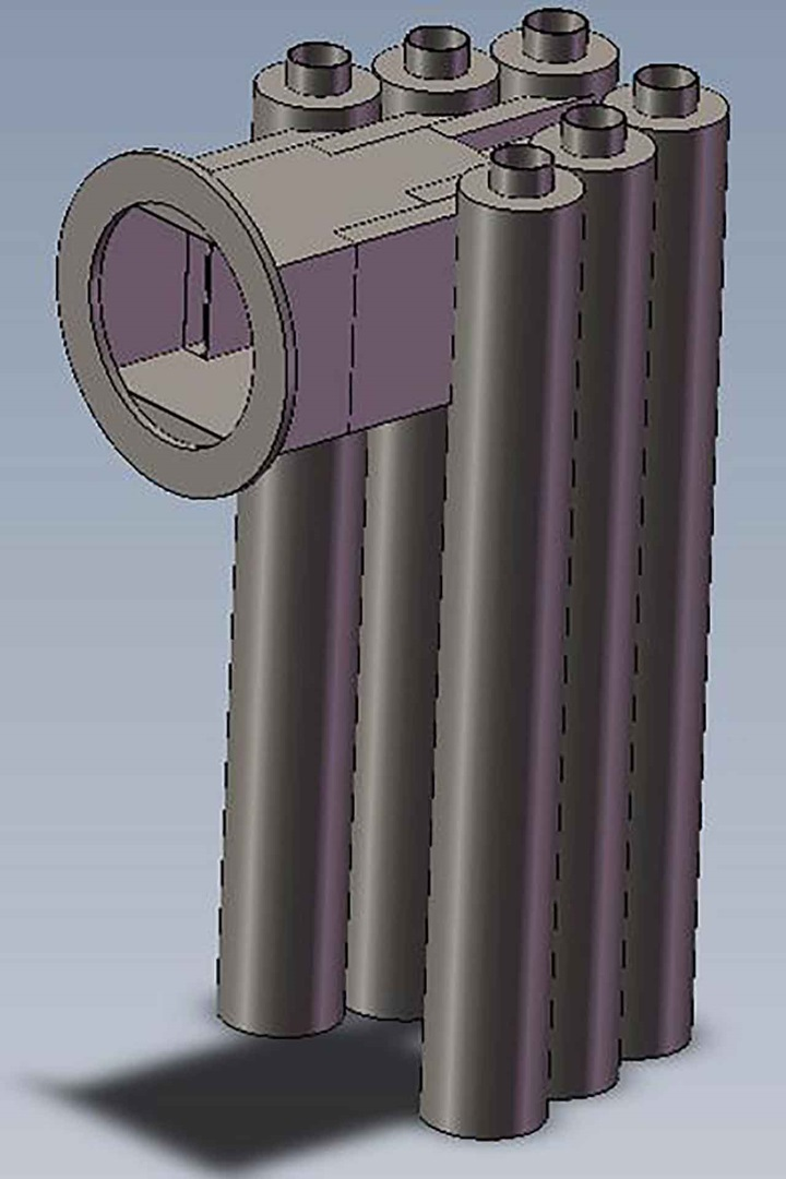 Graphic of GIRZ Cyclonic Inlet Device for processing foams