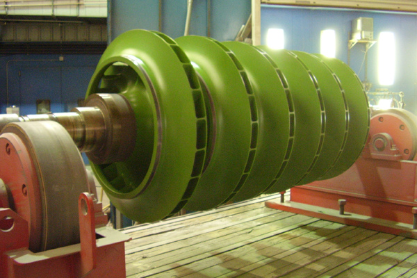 Centrifugal compressor coated with A24
