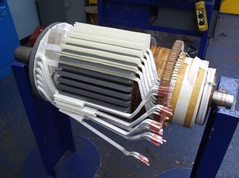 We manufacture armature coils in house