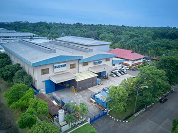 Aerial shot of the Purwakarta service center