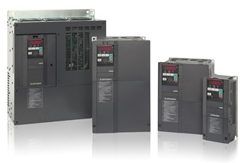 Optimized for energy saving and automation, variable speed drive and variable frequency drive inverter products from Mitsubishi Electric