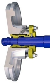 TB1F ready-fitted single mechanical seal with throttled seal chamber cut-through