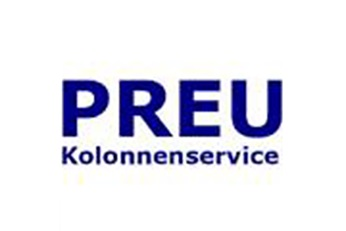 Logo of PREU Kolonnenservice company, now belonging to Sulzer