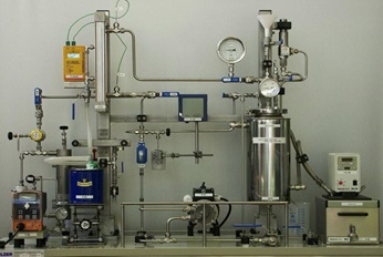 View of the laboratory with testing instruments