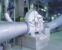 ZPP double suction axially split single stage centrifugal pump in a pulp mill