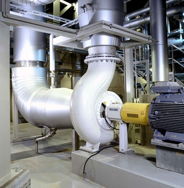 AHLSTAR end suction single stage process pump in a paper mill